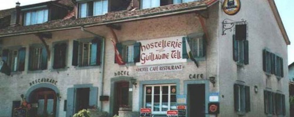 AN INFORMAL LUNCH AT THE GUILLAUME TELL, COMMUGNY